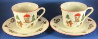 Christmas China Cups and Saucers - Made in Japan