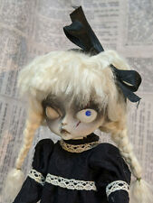 OOAK Hujoo BJD Creepy Gothic Zombie  Unique Face-up Halloween 24cm