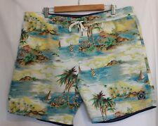 SPORTSCRAFT ~ Mens Blue Yellow Green Red Tropical Summer Shorts 40