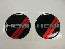 Challenger Charger Under Hood Beverage Delete Emblem Decal Black & Red HEMI