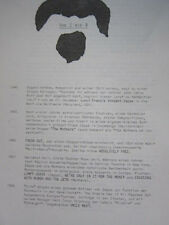 FRANK ZAPPA  Von Zis Bis A German 2 page notes original Herb Cohen file