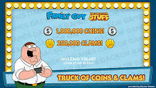 [iOS/Android] Family Guy: Quest For Stuff 250,000 Clams & 1,000,000 Coins!