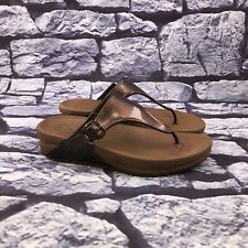 FitFlop Superjelly Women's Brown Rubber Flip Flop Thong Sandals Size 7