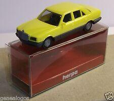 MICRO HERPA HO 1/87 MERCEDES BENZ 500 CE JAUNE IN BOX