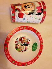 Mickey & Minnie  Children's Christmas Bowl & Tumbler. New
