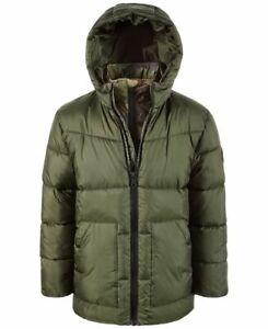New Michael Kors Little Boys Puffer Jacket Size 4 Green