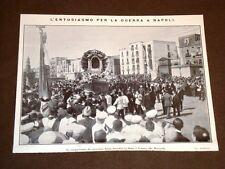 Guerra Italia vs Libia nel 1911 Entusiasmo a Napoli Profughi di Bengasi a Malta