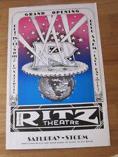 STEVIE RAY VAUGHAN Doug Sahm Cobras 1974 concert poster Austin