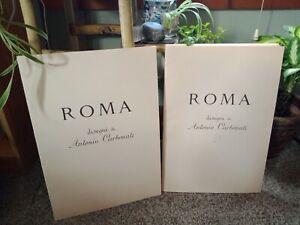 Set of 36 Roma 1950 Antonio Carbonati Italian Roma Portfolio Etchings Rome Art