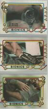 "Six Million Dollar Man - ""Bionics"" 3 Card Chase Set #B1-3"