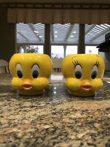 Vintage Tweety Bird Looney Tunes 3D Style Ceramic Coffee Mug Warner Bros