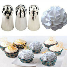 3pc Sphere Ball Russian Icing Piping Nozzles Tips Cake Decor Pastry Cupcake