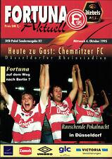 DFB-Pokal 95/96 Fortuna Düsseldorf - Chemnitzer FC, 04.10.1995