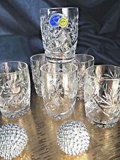 Crystal Shot Glass Set of 6 Vodka Whisky Cognac 1.7 oz NEMAN Vintage Russian Cut