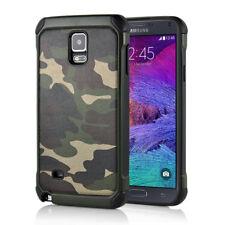Samsung Galaxy Note 4 Outdoor Case TPU Hybrid Camouflage Tarnmuster Hülle Grün