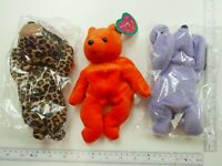 Lot of 3 x Full O Beans plush New with tag Free Shipping