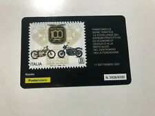 2021 Tessera Filatelica Plastic Card Centenario Moto Guzzi