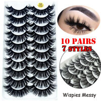 Wispies Fluffy Lash Extension Full Volume Thick False Eyelashes 3D Mink Hair