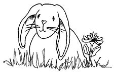 Unmounted Rubber Stamp Spring Bunny Rabbit - 7153
