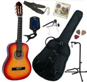 Pack Guitare Classique 1/4 Pour Enfant (4-7ans) Avec 7 Accessoires (Sunburst)