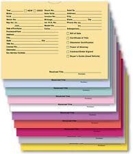 Printed 9 X 12 Vehicle Deal Jackets Car Dealer Envelopes 100 Or 500 Per Pack