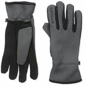 NWT SPYDER Core Conduct Touchscreen Gloves - XL - Polar Grey/Black