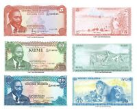 Kenya 5 + 10 + 20 Shillings 1978 Set of 3 Banknotes 3 PCS  UNC