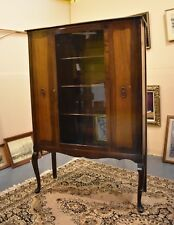 Antique Vintage Walnut Dining Room China Cabinet Display Case