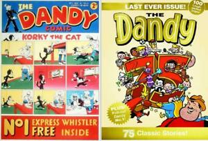 THE DANDY COMIC LAST EVER ISSUE Special GOLD Edition +free No.1 1st 1937 replica