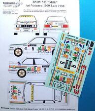 """Transkit 1/24 BMW M3 Gr.A """"MILK"""" RALLYE 1000 LAGHI 1988 Renaissance TK24/437"""