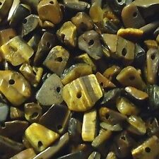 50g 4-7mm Tiger Eye Stone Chip Beads - K4801