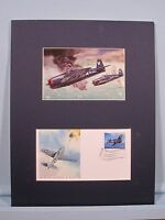 Honoring World War II  F6F Hellcat Fighter & First Day Cover of its own stamp