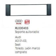 Soporte marco auto-radio Seat Toledo Leon Audi A-3 + adaptador antena redline