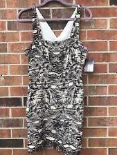 Urban Outfitters NWT animal party dress size 8 black cutout holiday strappy zip