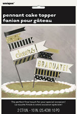 GRADUATION PENNANT CAKE TOPPER FOR CONGRATULATIONS CAKE DECORATIONS