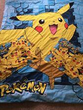 2015 Official Twin Full Pokemon Pikachu Twin Full Comforter 2 Pillow Shams Set