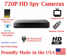 SecureGuard AC Powered 720P HD Blu-Ray DVD Player Spy Camera Nanny Cam For Home