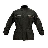 RST Rain 1815 Waterproof Motorbike Scooter Motorcycle Jacket - Black