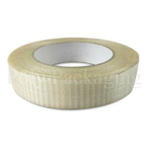 "25mmx50m(1"")Rolls CROSSWEAVE TAPE Reinforced/Filament/Fiberglass Security Tapes"