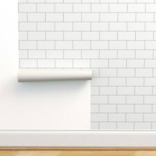 Peel-and-Stick Removable Wallpaper Brick Subway Tiles White Modern Tile Retro
