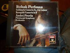 ITZHAK PERLMAN,PREVIN '87 CLASSICAL EMI ANGEL CD, GOLDMARK CONCERTO NO.1 A MINOR