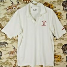 """Under Armour Polo Shirt Heat Gear Loose Fit """"Indiana Hoosiers"""" Men's M Chest 46"""""""