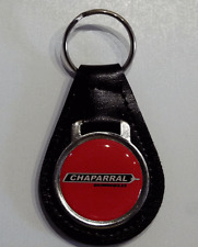 Reproduction Vintage Red Chaparral Logo Medallion Leather Keychain