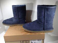UGG Australia Womens Classic Short Blue Winter Ankle Boots Shoes Size 8 ZE-2120