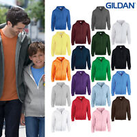 Gildan Heavy Blend Full Zip Hooded 18600-Men's Ladies Classic Casual Sweatshirt