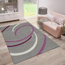 Teppich mit Kreisel Muster in Grau Lila