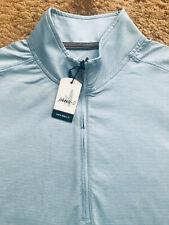 JOHNNIE-O VAUGHN 1/4 Zip Pullover Shirt Mens Size Small Gulf Blue NWT $115.00