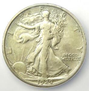 1920-D Walking Liberty Half Dollar 50C Coin - Certified ICG VF35 - Rare Date!