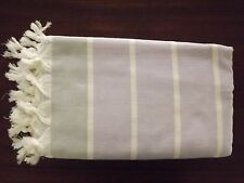 Turkish Cotton Peshtemal Towel - Hand Loomed Bath Beach Towel Pestemal Lilac