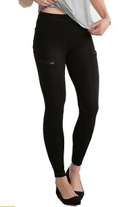 Spanx Cargo Back Pocket Zipper Jeans Jeggings Leggings FL0215 Grey Wash M/ 12-14